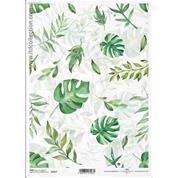 """Ριζόχαρτο """"Green leaves"""" 21x29εκ.   (ITD-R1417)"""