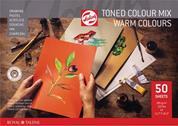 Talens μπλοκ mix θερμών χρωμάτων 50φυλ. Α3 180 γρ.