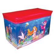 """Σκαμπώ-κουτί αποθήκευσης υφασμάτινο """"mermaid"""" Υ35x60x30εκ."""