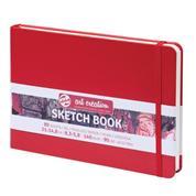 Talens Sketch book κόκκινο 80φυλ. 21x15εκ. 140 γρ.
