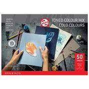 Talens μπλοκ mix ψυχρών χρωμάτων 50φυλ. Α4 50φ. 180 γρ.