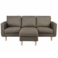 Flex καναπές γωνιακός καφέ-μπεζ Υ83x197x137εκ.