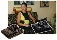 Κουβέρτα διπλής όψης καφέ 200x150εκ.