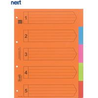 Next διαχωριστικά χάρτινα 1-5, Α4