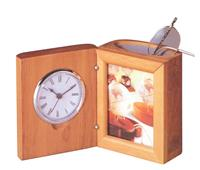 Bestar κορνίζα με ρολόι ξύλινη Υ11,6x9,8x7,9εκ.