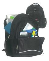 Τσάντα πλάτης εφηβική μαύρη με 2 θήκες 42x32x15εκ.
