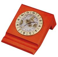 Bestar ρολόι με παγκόσμια ώρα σκούρη κερασιά Υ7x12x12.8εκ.