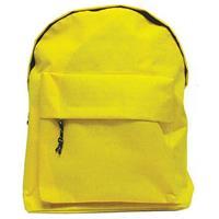 Τσάντα πλάτης κίτρινη με 1 θήκη 42x32x16εκ.