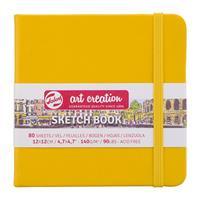 Talens Sketch book κίτρινο 80φυλ. 12x12εκ. 140 γρ.
