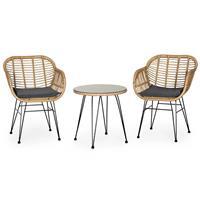 Bali σετ σαλόνι εξωτ. χώρου 3τεμ. καρέκλες και τραπέζι Υ54xØ52εκ.& Υ80x56x69εκ.