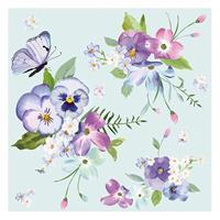 """Χαρτοπετσέτες 20τεμ. 33x33εκ """"Λουλούδια σε μπλε φόντο"""" (SD_WI_005601)"""