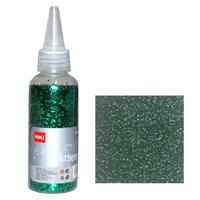 Glitter σκόνη 1/64'' σε μπουκάλι πράσινο 40γρ.