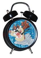 """Ρολόι ξυπνητήρι επιτραπέζιο μεγάλο μαύρο """"Taz"""""""