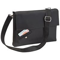 Τσάντα ταχυδρόμου μαύρη 26x22x4εκ.