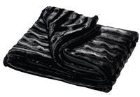 Κουβέρτα διπλής όψης μαύρη 200x150εκ.