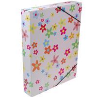 """Νext κουτί με λάστιχο """"Λουλούδια"""" Υ33.5x25x5εκ."""