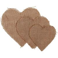 Καρδιά από λινάτσα 6τεμ.