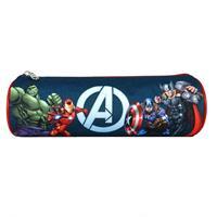 """Βagtrotter κασετίνα βαρελάκι """"Avengers"""" μπλε 22x7εκ."""