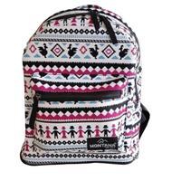 Montana τσάντα πλάτης εφηβική λευκή με σχέδια με 1 θήκη 37x25x9εκ.