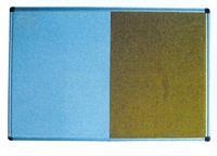 Πίνακας διπλός λευκός-φελλού 60x90εκ.