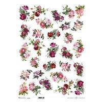 """Ριζόχαρτο """"roses 1"""" 42x29.7εκ.   (ITD-R194L)"""