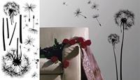 """Αυτοκόλλητα τοίχου 30χ60εκ. """"μίνιμαλ λουλούδι"""""""
