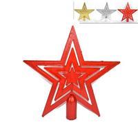 Κορυφή δέντρου αστέρι, σε τρία χρώματα Υ29x19εκ.