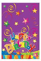 """Τραπεζομάντηλο πλαστικό """"happy birthday"""" 54x72εκ."""