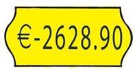 Ετικέτες κίτρινες 26x12mm (1000τεμ./ρολλό)