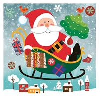 """Χαρτοπετσέτες 20τεμ. 33x33εκ """"Άγιος Βασίλης πάνω από την πόλη"""" (SD_GW_017001)"""