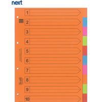 Next διαχωριστικά χάρτινα 1-10, Α4