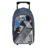 Bagtrotter τσάντα δημοτικού τρόλευ novak μπλε 45x32x16εκ.