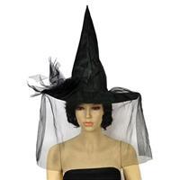 Καπέλο μάγισσας μαύρο Υ37x43εκ.