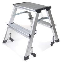 Σκάλα mini με ρόδες & 2 σκαλοπάτια Υ46εκ.