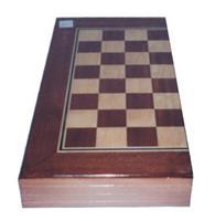 Τάβλι-σκάκι ξύλινο απο καπλαμά 50x50εκ.