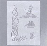 """Efco στένσιλ """"Ναυτικό μοτίβο"""" Α5 4 σχέδια"""