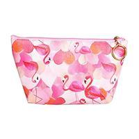 """Κασετίνα pu """"Flamingo"""" ροζ Y13x22x16εκ."""