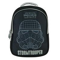 "Bagtrotter τσάντα πλάτης δημοτικού ""Star wars"" μαύρη 42x30x14εκ."