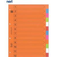 Next διαχωριστικά χάρτινα 1-12, Α4