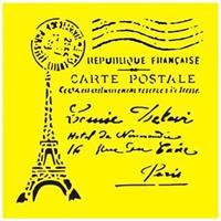 """Στένσιλ πλαστικό """"Eiffel Tower"""" 16x16εκ.  (ST0068)"""
