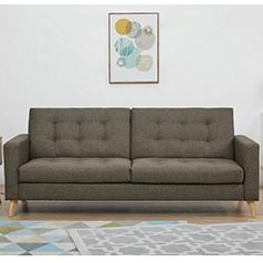 Soho καναπές-κρεβάτι τριθέσιος καφέ-μπεζ Υ81x201x90εκ.