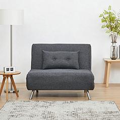 Berlin πολυθρόνα-κρεβάτι σκούρο γκρι Υ92x100x91εκ.