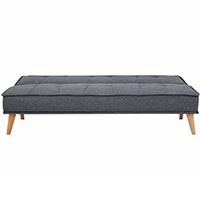 Tokyo καναπές-κρεβάτι τριθέσιος σκούρο γκρι Υ82x181x91εκ.