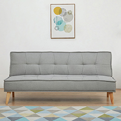 Tokyo καναπές-κρεβάτι τριθέσιος ανοιχτό γκρί Υ82x181x91εκ.