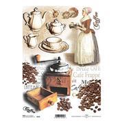 """Ριζόχαρτο """"coffee"""" 21x29εκ.   (ITD-R350)"""