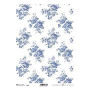 """Ριζόχαρτο """"blue pattern"""" 21x29εκ.   (ITD-R634)"""