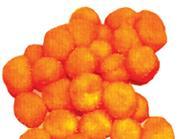 Πομ πομ 2εκ. πορτοκαλί 100 τεμάχια