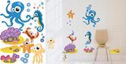 """Αυτοκόλλητα τοίχου 50x70εκ. """"ζωάκια της θάλασσας"""""""
