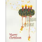 """Ευχετήριες κάρτες χριστουγεννιάτικες """"στεφάνι"""" 11,6x16εκ."""