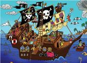 "Next παζλ ""Το καράβι των πειρατών"" 35x50εκ. 48 τεμαχίων"